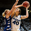 20110311_BKOL_BROOMFIELD_CARPENTER_BURGESSER.JPG Longmont's Megan Carpenter matches up with Broomfield's Bre Burgesser in overtime of the Class 4A Championship game at Coors Events Center in Boulder on Friday, March 11, 2011. (Joshua Buck/Times-Call)