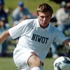 Niwot 's Nick Terry, takes the ball downfield during Saturday's game against Broomfield at Niwot High.<br /> <br /> October 3, 2009<br /> Staff photo/David R. Jennings