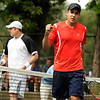 "Richard Johnson, of Boulder, right, gives a fist pump after defeating Willie Dann, of Denver, in the men's singles championship tennis match on Sunday, Aug. 14, during the Babolat Boulder Open at the Millennium Harvest House in Boulder. For more photos of the men's and women's singles championship go to  <a href=""http://www.dailycamera.com"">http://www.dailycamera.com</a><br /> Jeremy Papasso/ Camera"