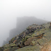 the bondcliff in the distance in the fog