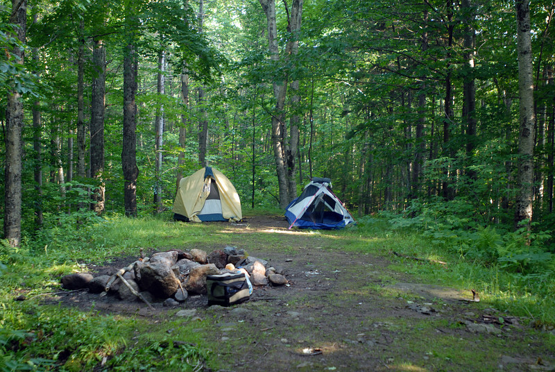 this was the campsite we used fri night before setting out on our hike sat morning