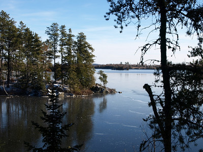 First ice.   Further into the lake, there is open water.  This was an unusual experience for us who visit either midst of summer or dead of winter otherwise.
