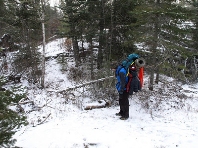 Entrance to west segment of Snowbank from the outlet portage.