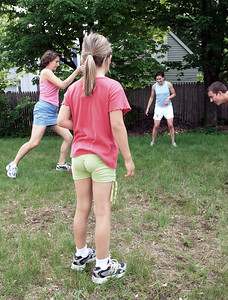 One quiet Saturday afternoon turned into a vicious soccer battle where 3 ladies clearly outplayed the lonely male amateur.