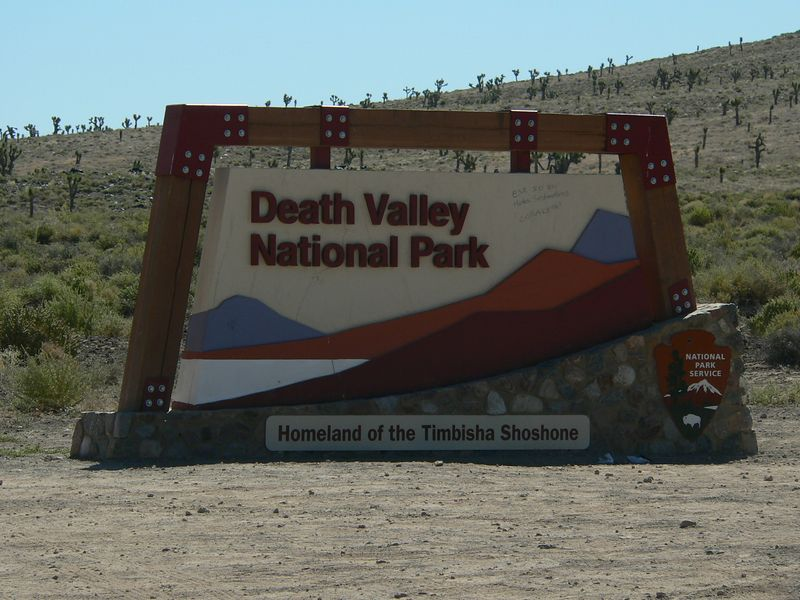 The end of the national park.