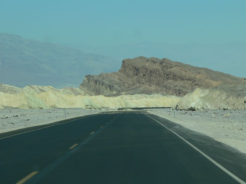 First view of Death Valley area. We couldn't make it to Dante's View because the road was still completely washed out from last August's flood.