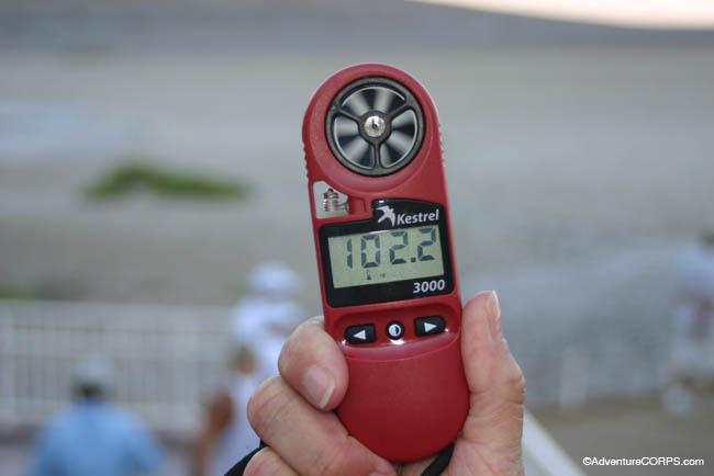 Air temperature at the race start at 8:00 am at Badwater Basin, 282 ft. below sea level.