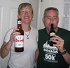 Corey and I enjoy our first beers of the week.  Corey and Jay were race officials this year.