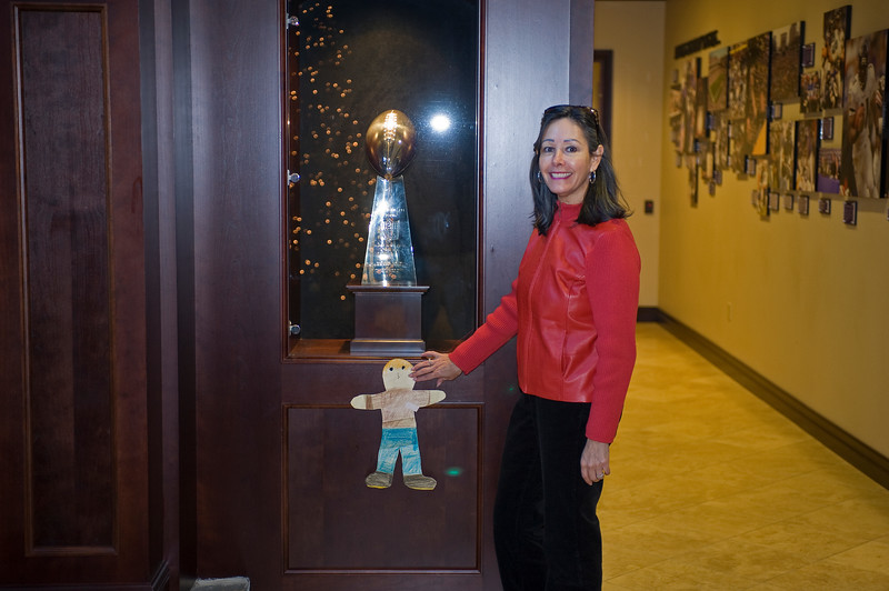 Alicia and Vince Lombardi Trophy