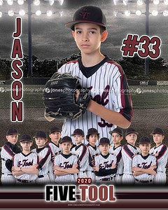 Jason 5 Tool 12u Baseball DS and MM