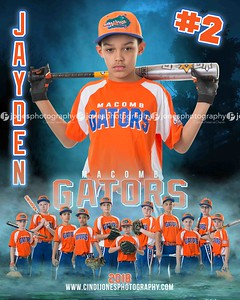 Jayden Macomb Gators 2 2018 DOOR SIGN