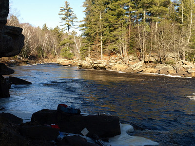 Lunch Rock.  In August I cooled a sprained ankle in the Kettle River here.