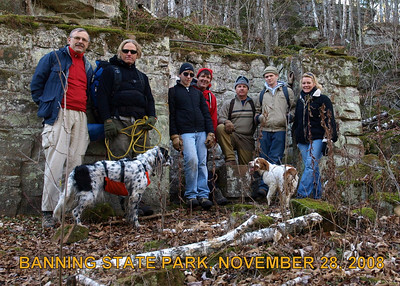 Our hiking group.   To join us on our next adventure, visit www.bwac.homestead.com or sign up on our e-mailing list at bwca.trails@yahoo.com.
