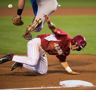 Rick Nomura takes third base during a game against Kentucky during the 2015 season.  (Alan Jamison, Nate Allen Sports Service)