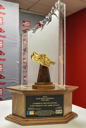 Andrew Benintendi was in Fayetteville for the Golden Spikes Award presentation by USA Baseball.   (Alan Jamison, Nate Allen Sports Service)