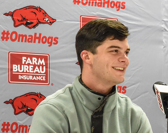 Andrew Benintendi was in Fayetteville for the Golden Spikes Award presentation by USA Baseball.   (Alan Jamison, Nate Allen Sports Service)