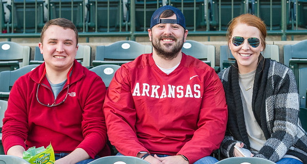 Razorback fans arrive early for the baseball game between Arkansas and Missouri on 4-2-16.  (Alan Jamison, Nate Allen Sports Service)