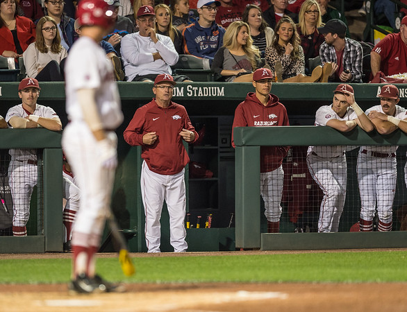 during a baseball game between Arkansas and Florida on 4/14/2016.   (Alan Jamison, Nate Allen Sports Service)