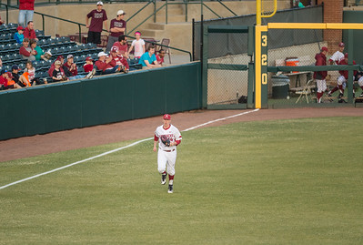 Arkansas pitcher Doug Willey (14) comes into the game in relief during a baseball game between Arkansas and Central Michigan on 2-19-16.   (Alan Jamison, Nate Allen Sports Service)