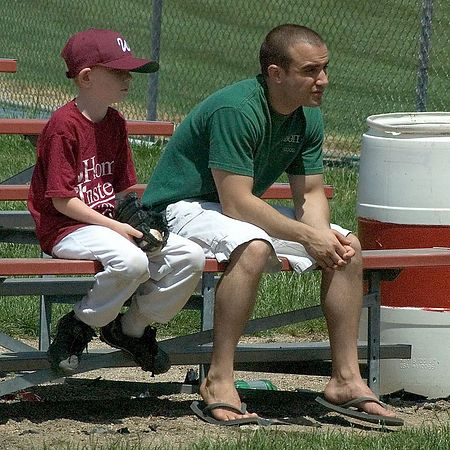 "<br><br><font size=""3"">Uncle Steve and Alex watch from the stands.</font>"