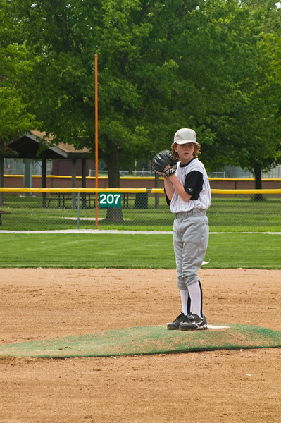 on the pitcher's mound