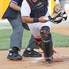Kingsport Mets catcher #24 eyes the loose ball. Photo by Erica Yoon
