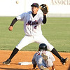 Kingsport Mets #4 tries to catch the ball as Greeneville #15 slides into second base. Photo by Erica Yoon