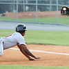 Greeneville Astros #10 tries to slide back into first base as Kingsport Mets #33 catches the ball to tag him out. Photo by Erica Yoon