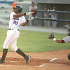 Kingsport Mets #30 watches his ball after a hit. Photo by Erica Yoon