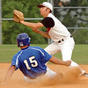 #15 for Gate City slides into second ahead ofthe throw to #1 of Lebanon. Photo by ned Jilton II