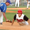 #12 for Lebanon slides safely back into first as #12 of Gate City makes the tag (12 vs 12 :-) Photo by ned Jilton II