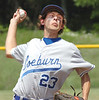 Coeburn's starting pitcher, #23, delivers pitch to the plate. Photo by Ned Jilton II