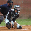 Eastside catcher, #9, Wes Yeary, blocks pitch that bounced in the dirt. Photo by Ned Jilton II