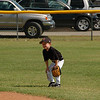 Joshua plays the middle right fielder (in T-ball there are 4 outfielders).