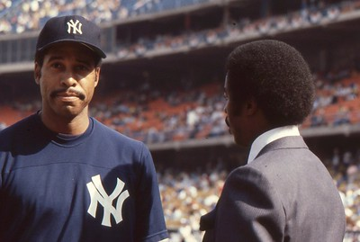 Yankees Dave Winfield and Jim Hill, '78 World Series pre game