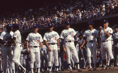 Dodgers pre game introductions, 1978 World Series