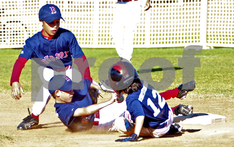 Tagged out at second base