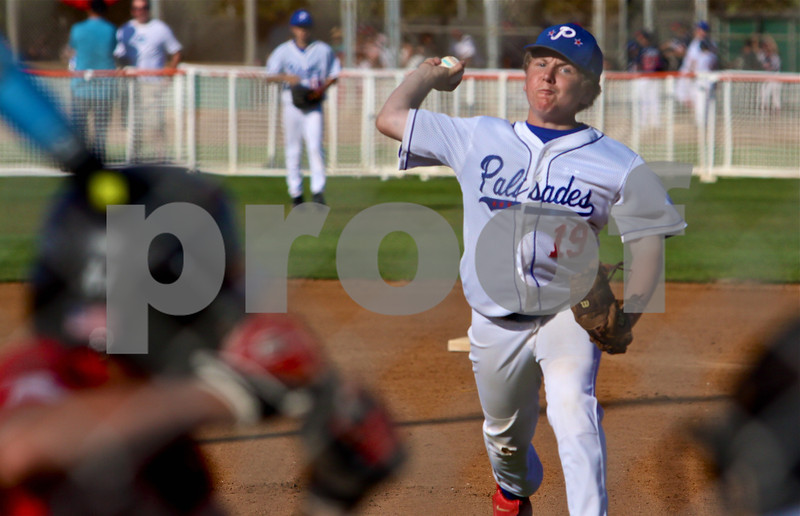 Jason Starrels throws a strike for Palisades in the Bronco finals game.