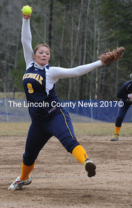 Desiree Benner winds up for the pitch in the Lady Panthers' playday on Saturday.