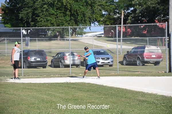 Adult Softball Action