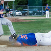 Leominster first baseman Brennan Cuddahy, right, dives in an attempt to beat the Northboro runner to the bag. SENTINEL & ENTERPRISE / GARY FOURNIER