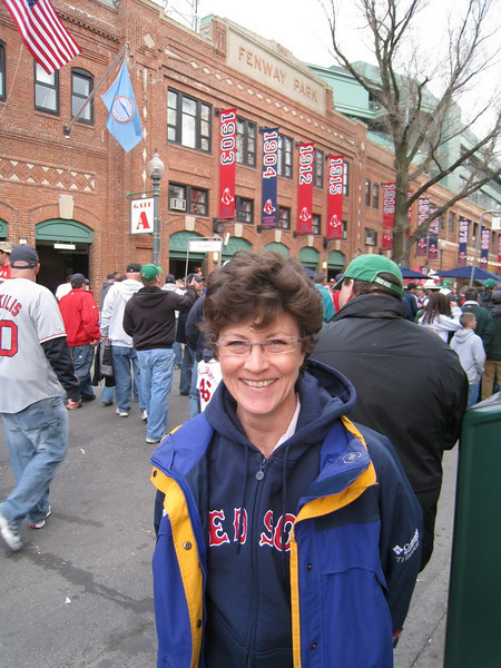 So damned pleased to be at Fenway.