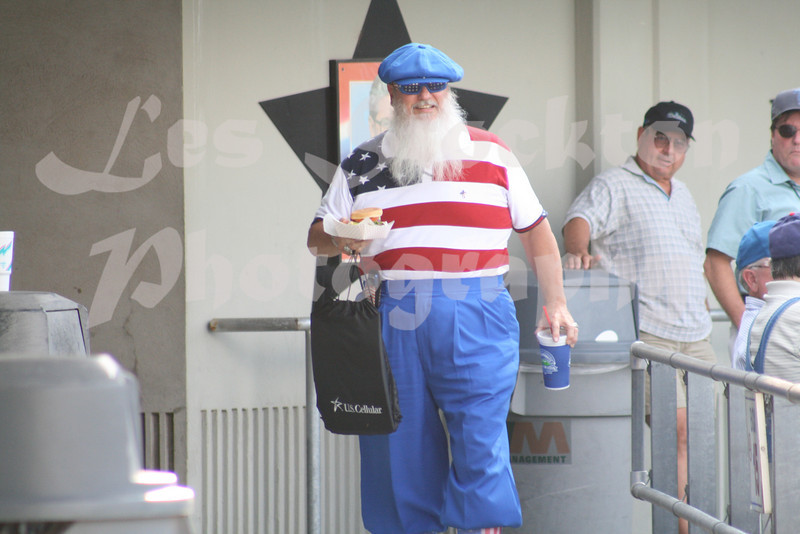 At first, I thought Santa Claus was out and about in the summer heat.