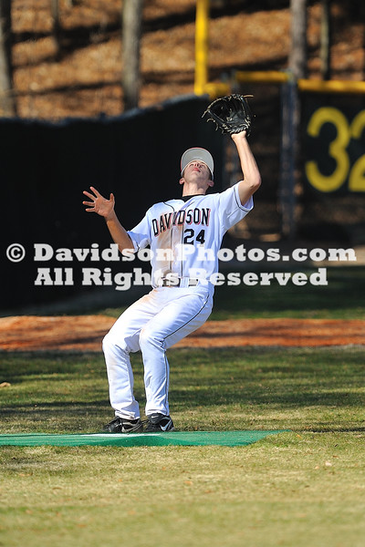 19 February 2011:  Opening weekend in college baseball action at Wilson Field in Davidson, North Carolina.