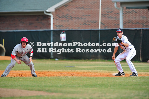 20 February 2011:  Opening weekend in college baseball action at Wilson Field in Davidson, North Carolina.