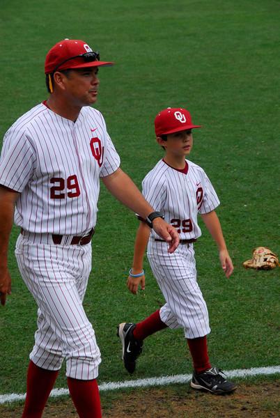 Baseball Coach Sunny Golloway, University of Oklahoma Sooners and Son