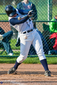 Tree of Life School's #18 Shane Frazier at bat against Bishop Hartley High School Friday afternoon April 9, 2010 at the Ridgeview Middle School. (© James D. DeCamp | http://www.JamesDeCamp.com | 614-367-6366)