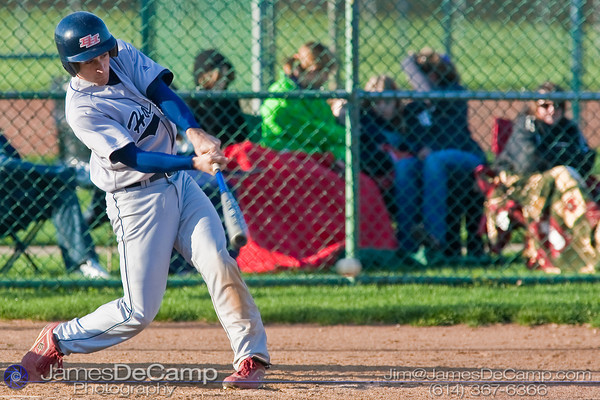 Bishop Hartley High School's #4 Ben Currie at bat against Tree of Life School Friday afternoon April 9, 2010 at the Ridgeview Middle School. (© James D. DeCamp | http://www.JamesDeCamp.com | 614-367-6366)