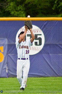 Reynoldsburg High School's #10 Drew Otani fields a ball during play against St. Charles High School at Reynoldsburg Junior High School Thursday evening May 13, 2010. (©James D. DeCamp | http://www.JamesDeCamp.com | 614-367-6366)