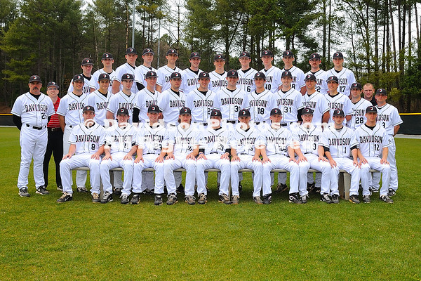 08 March 2012: Baseball team pictures at Wilson Field in Davidson, North Carolina.